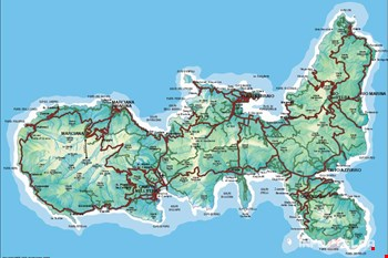 Cartina dell'Elba gentilmente concessa da Spot Line