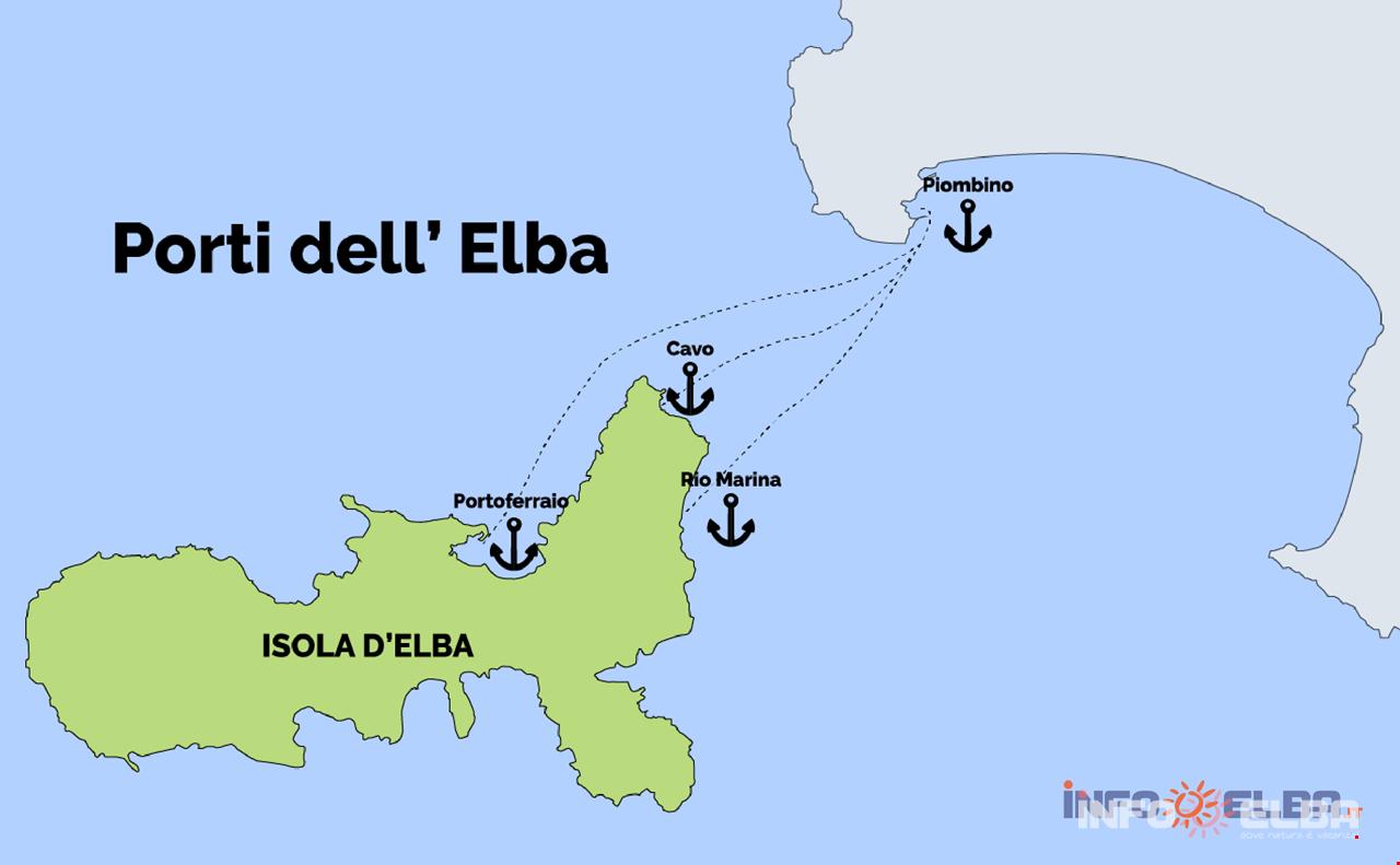 Cartina Italia Isola D Elba.Il Porto Di Piombino Imbarcare E Sbarcare Dal Traghetto