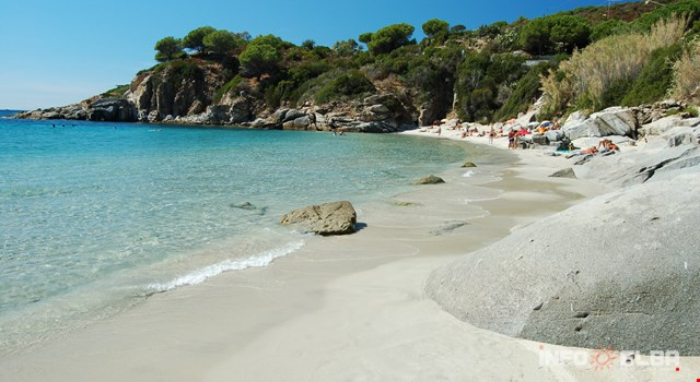 The beaches and the bathing establishments on the Island of Elba