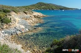 Scogliera tra la spiaggia di Lido di Capoliveri e spiaggia del Felciaio